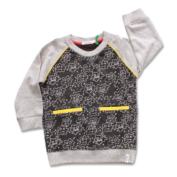 Black and Grey Jumper With Print