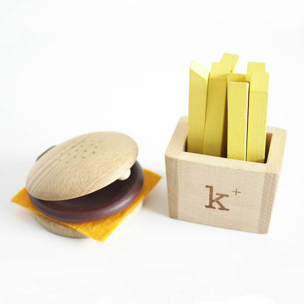 Kiko+ - Wooden Hamburger Magical Set
