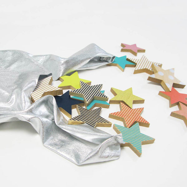 Colourful  Wooden Cookie Stars Toy