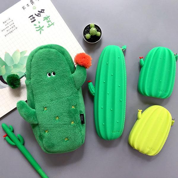 Kawaii Cactus Soft Plush Pouch Pencil Case