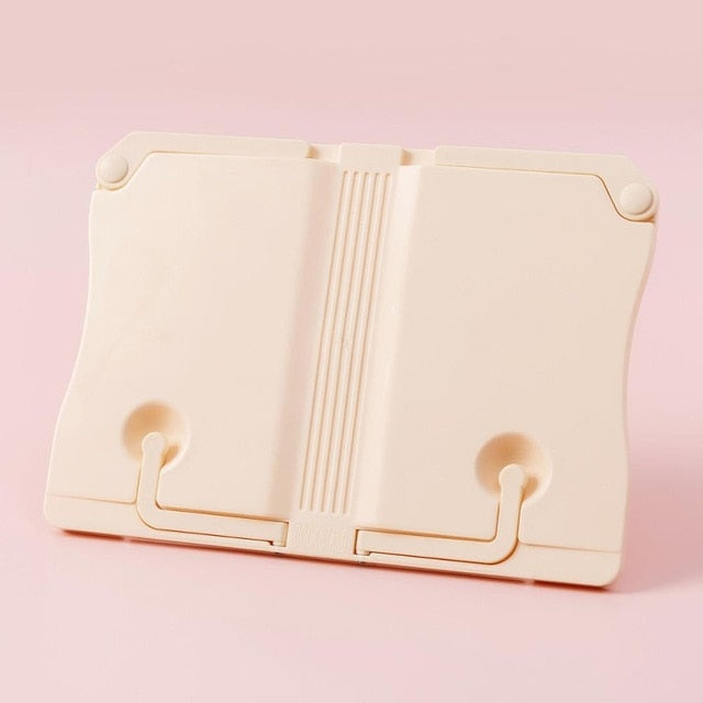 KAWAII Cream Adjustable Reading Book Display Holder