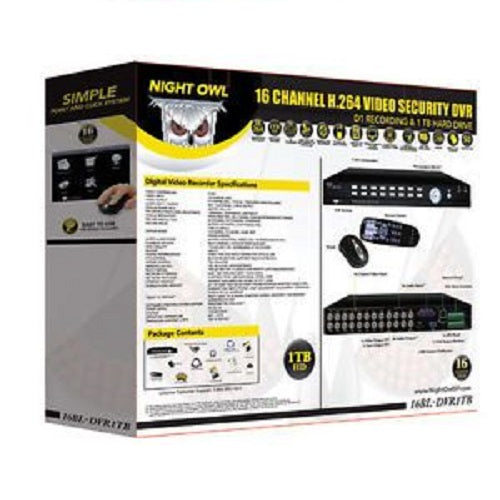 NightOwl, 16BL-DVR - 16 Channel H.264 Video Security DVR