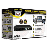 NightOwl, 4BL-DVR - 4 Channel H.264 Video Security DVR