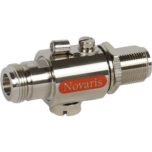 Novaris, Cx-6 - RF Equipment Protection up to 6GHz, N-type Male/Female 6G w/ mounting bracket (CN-MF-90-6)