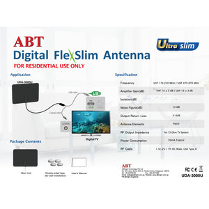 OEM, Digital FlexSlim Antenna - Ultra Slim UDA-3000U