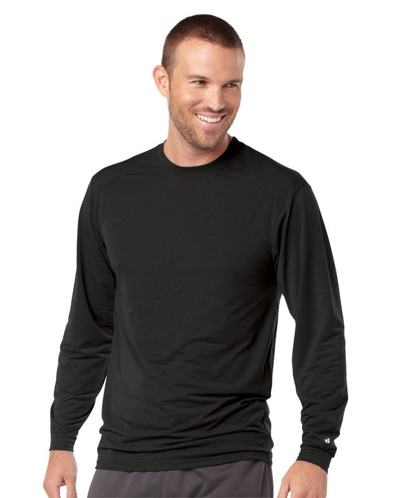 B-Tech Cotton-Feel Long Sleeve T-Shirt