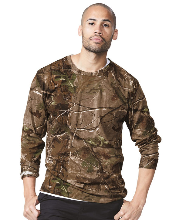 "Adult Realtree"" Camo Long Sleeve Tee"