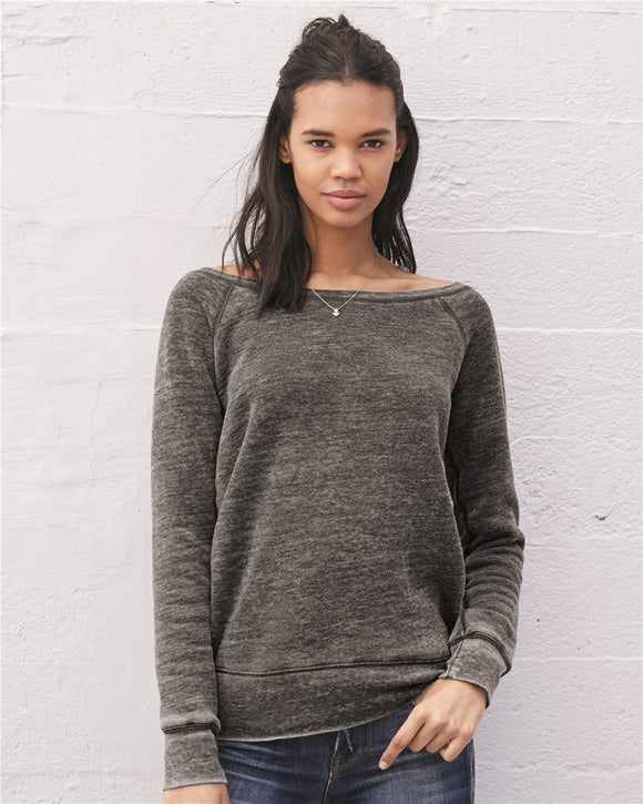 Women's Sponge Fleece Wideneck Sweatshirt