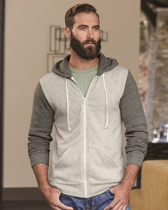 Rocky Unisex Colorblocked Eco-Fleece? Hooded Full-Zip