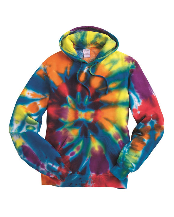 Rainbow Multi-Color Cut-Spiral Hooded Sweatshirt