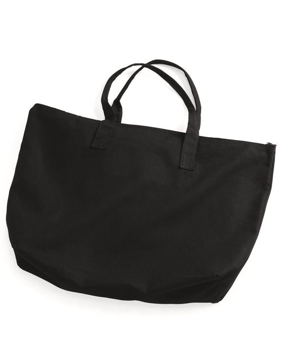 10 Ounce Cotton Canvas Tote with Zipper Top Closure