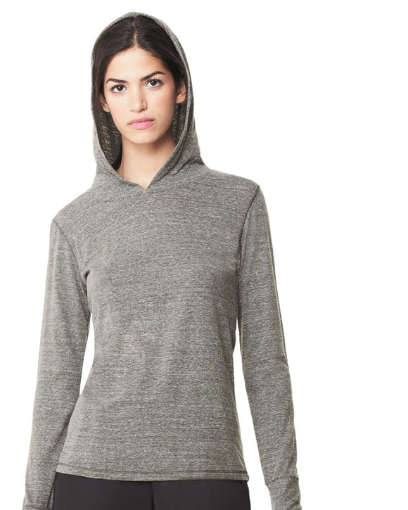 Women's Triblend Long Sleeve Hooded Pullover