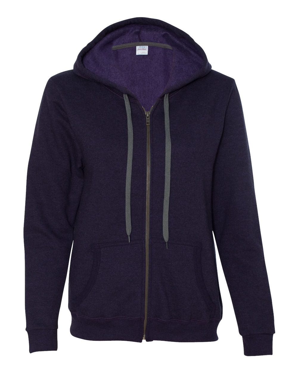 Heavy Blend Women's Vintage Full-Zip Hooded Sweatshirt
