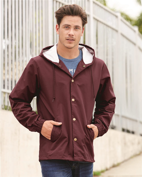 Hooded Water Resistant Windbreaker Jacket