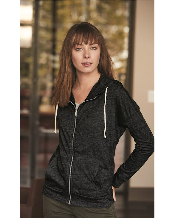 Women's Eco Jersey Cool Down Hooded Full-Zip