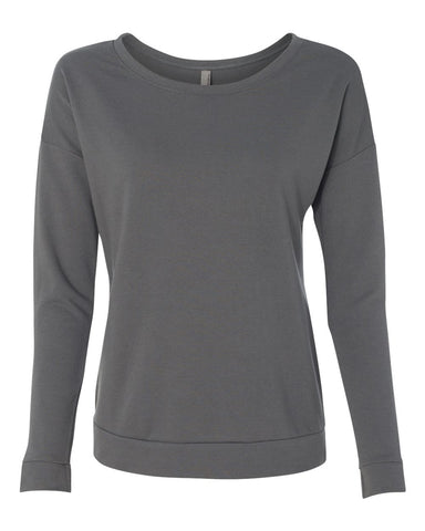 Women's Terry Long Sleeve Scoopneck T-Shirt