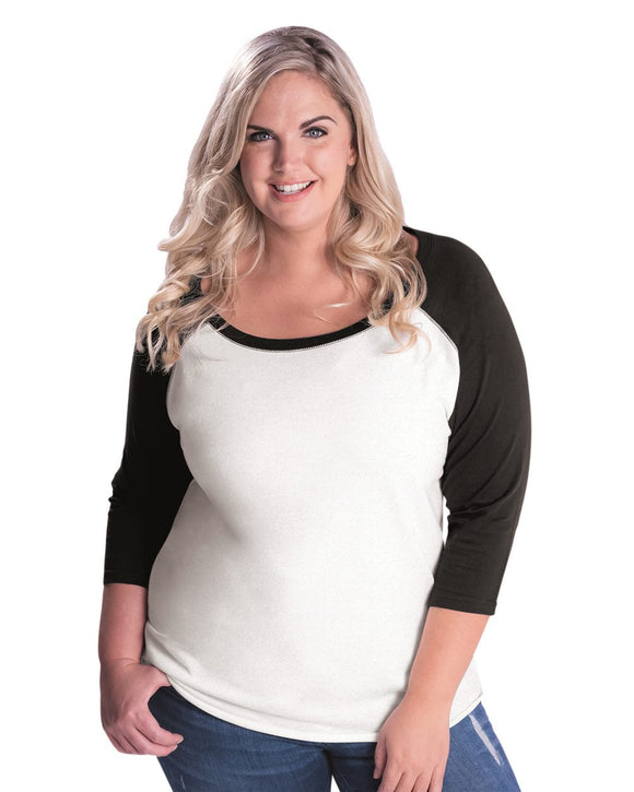 Curvy Collection Women's Baseball Tee