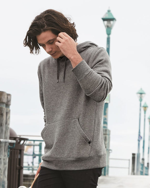 Cotton Blend Hooded Pullover Sweatshirt