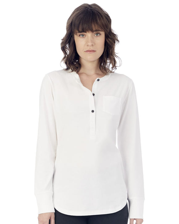 Donna Organic Pima Cotton Henley with Pocket