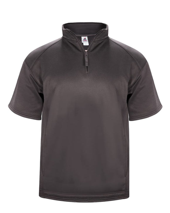 Poly Fleece Short Sleeve Quarter-Zip