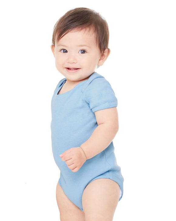 Infant Baby Rib Short Sleeve Creeper