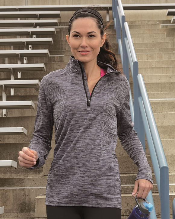 Women's Striated Quarter-Zip Pullover