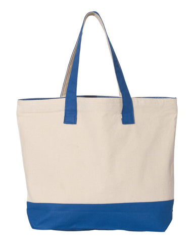 18.6L Canvas Zipper Tote