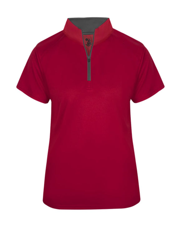 B-Core Women's Short Sleeve 1/4 Zip Tee