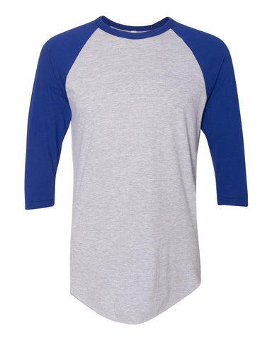 50/50 Poly/Cotton Raglan Three-Quarter Sleeve T-Shirt