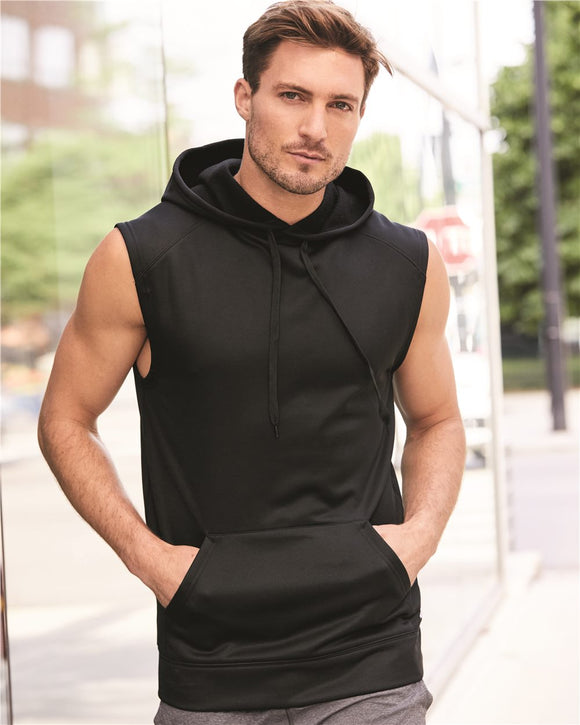 Sleeveless Performance Fleece Hooded Pullover