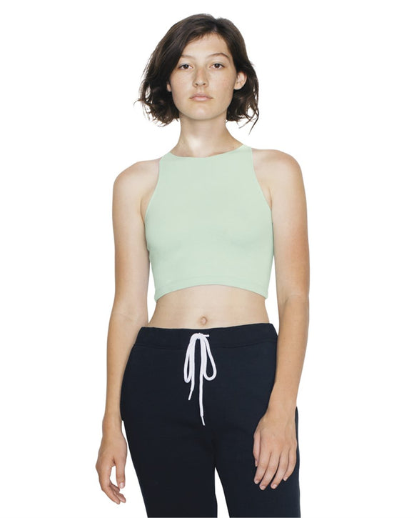 Women's Cotton Spandex Sleeveless Crop Top