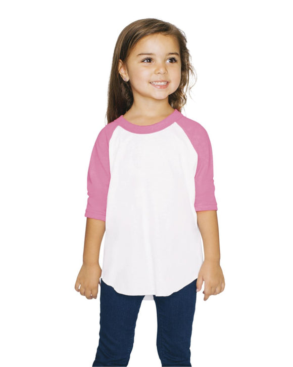 Toddler 50/50 Poly/Cotton Three-Quarter Sleeve T-Shirt
