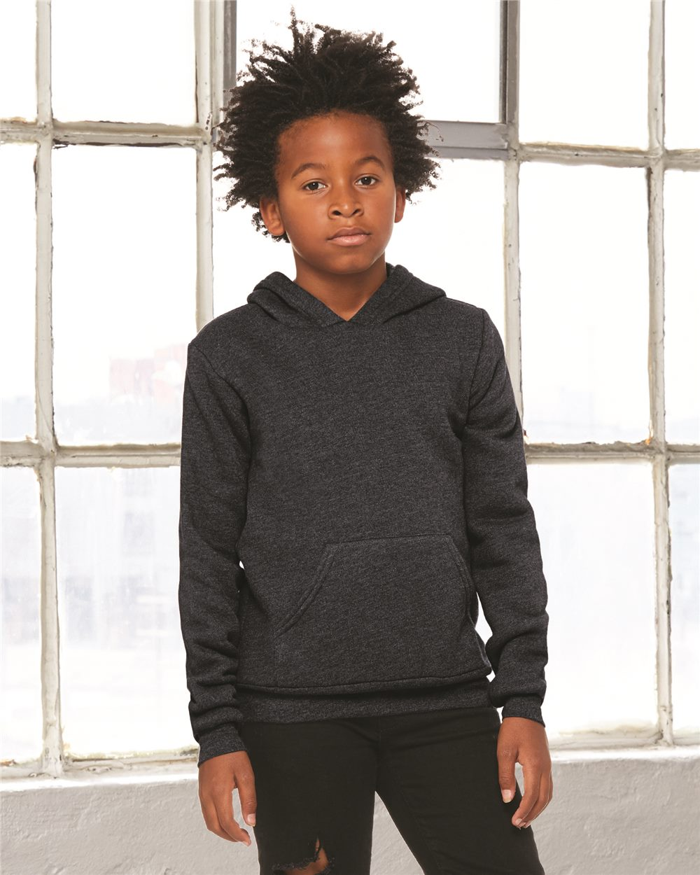 Youth Sponge Fleece Hooded Sweatshirt
