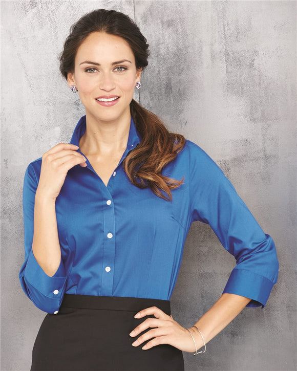 Women's Three-Quarter Sleeve Baby Twill Shirt