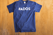 Load image into Gallery viewer, Official #ADOS Short Sleeve T-Shirt in Navy Blue