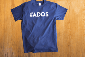 Official #ADOS Short Sleeve T-Shirt in Navy Blue