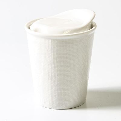 Ceramic Travel Cup White Linen - Gro Urban Oasis