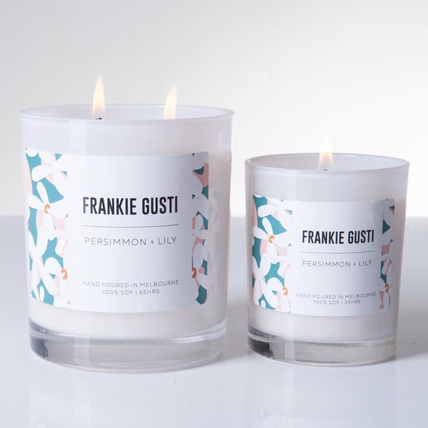 Frankie Gusti Candle, Signature - Persimmon + Lily LGE - Gro Urban Oasis
