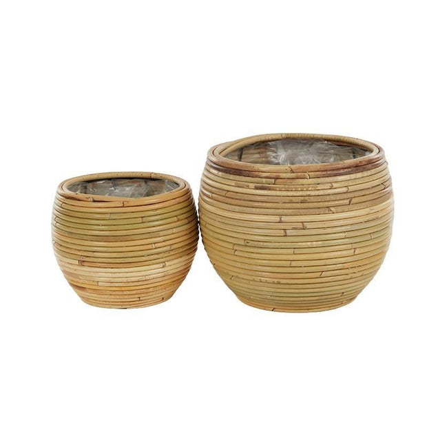 Raya Rattan Planter Natural - Gro Urban Oasis
