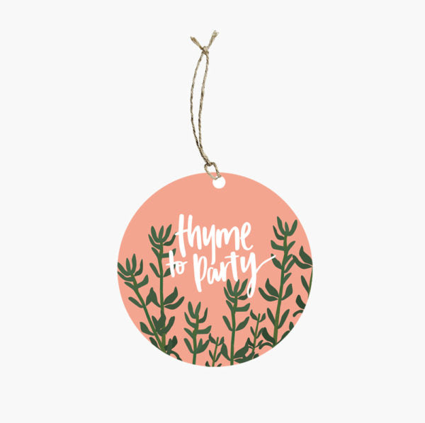 Thyme Seeds Gift Tag - Gro Urban Oasis