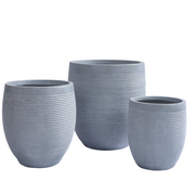 Rise Egg Pot Grey - Gro Urban Oasis
