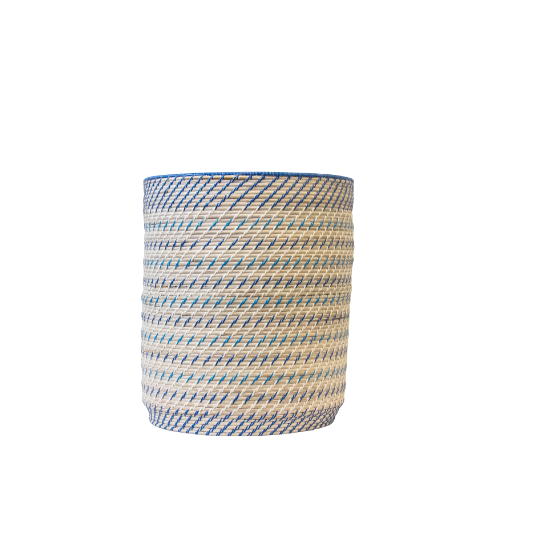 Barrel Basket Cool Stripe - Gro Urban Oasis