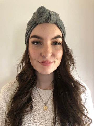 Dark Grey Hair Turban