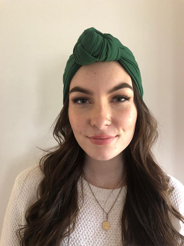 Dark Green Hair Turban