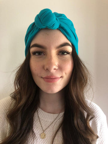 Teal Hair Turban