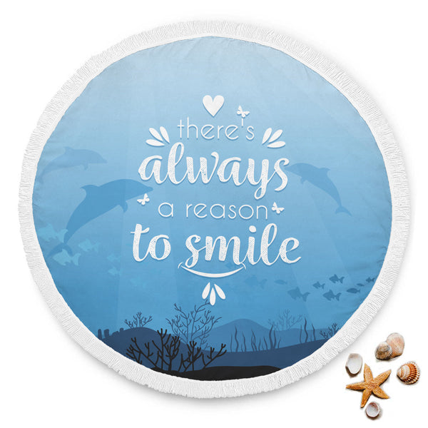 serviette rond ALWAYS SMILE