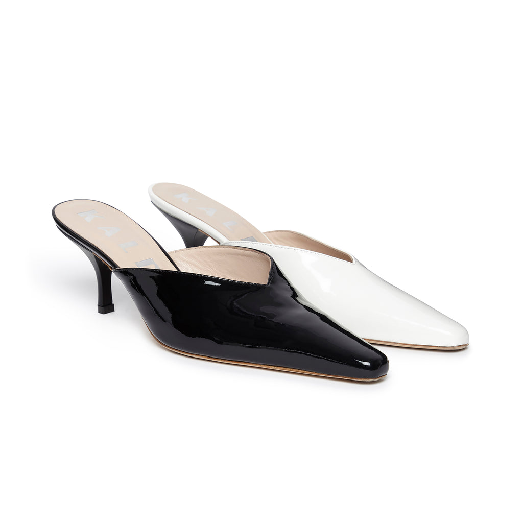 Alba Mismatch Mule Black and White pair