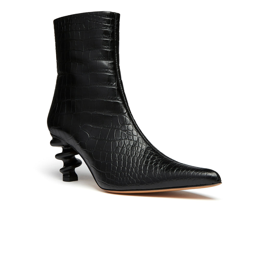 Island Boot Black Croc Front