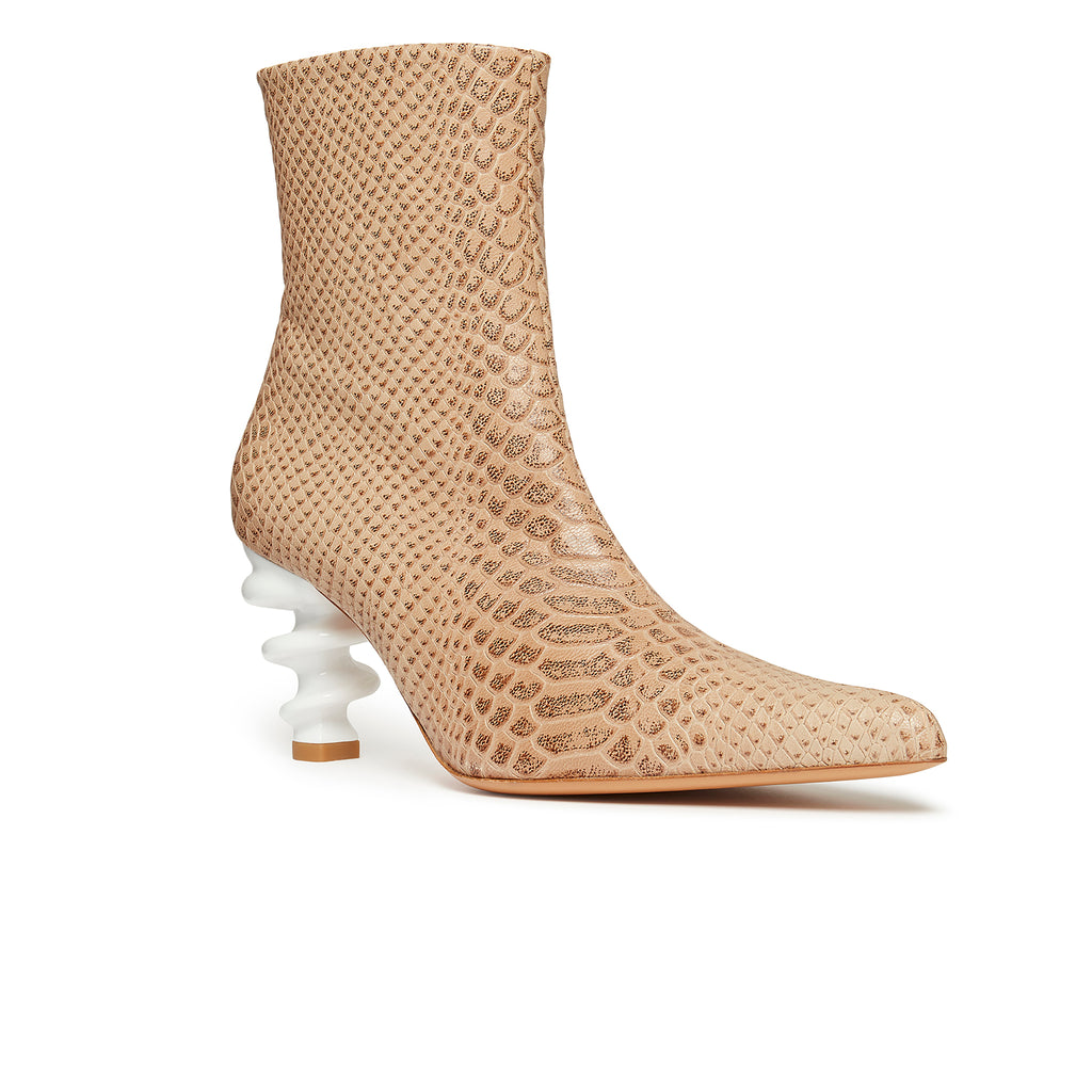 Island Boot Nude Snake Front