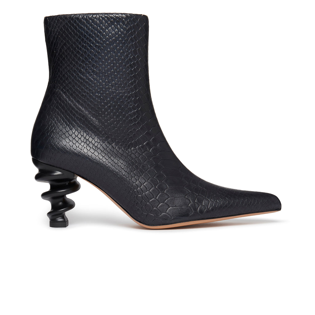 Island Boot Black Snake Side